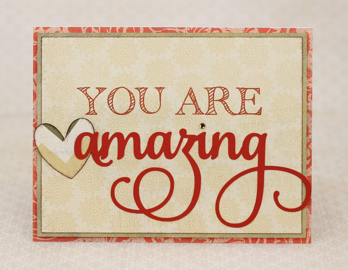You Are Amazing - Finding Time To Create  You Are Amazing...