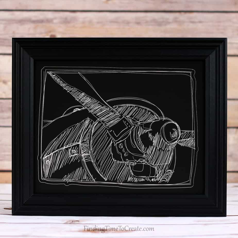 Scratchboard Airplane Finding Time To Create