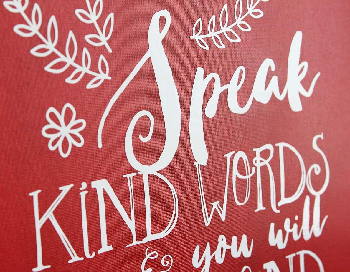 Speak Kind Words Vinyl Tutorial Finding Time To Create